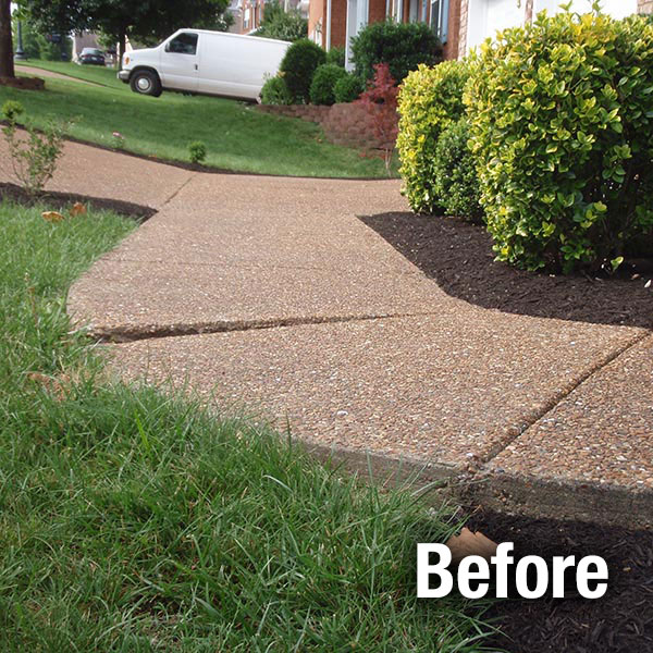 Akron/Canton Concrete Sidewalk Leveling - Before