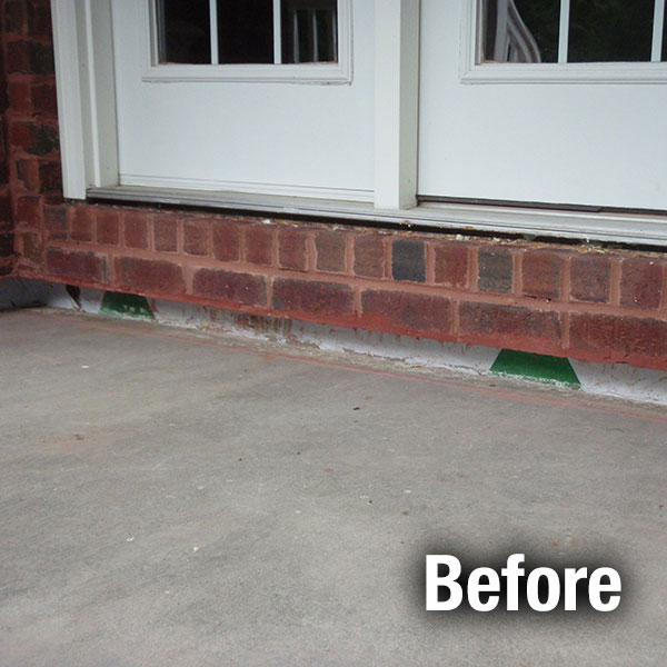 Akron/Canton Concrete Porch Leveling - Before
